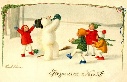 snowman-with-bottle-postcard-11